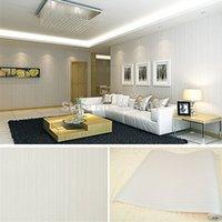 home decor fabric - 0 x10m Modern Wallpaper Simple Non woven Fabric Wall Sticker Home Decoration TV Wallpaper Bedroom Decor