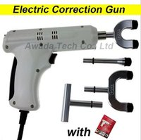 adjust box - 110 V Electric Correction Activator Gun Massager Heads adjustable intensity Therapy Chiropractic Adjusting Instrument Without metal box