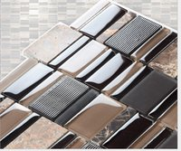 bathroom tiles stone - l brick and stone glass Mosaic glass wall brick stone Mosaic Glass bathroom tile stone Mosaic tiles