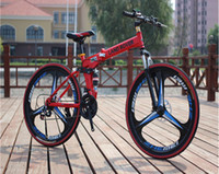 Wholesale folding bicycle inch folding mountain bike front and rear disc brakes folding bike MTB Scalable s s and aluminum frame