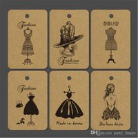 Wholesale Square Kraft Paper Grams Of Monochromatic Tags Printed Logo Customization Merry Christmas Gift Tags Kraft Label Swing Luggage Vintage