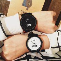 Wholesale 2015 fashion brand HBA leather strap unisex watches men quartz women dress watch sports military relojes geneva wristwatch