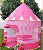 Wholesale ultralarge kids beach tent children s toys to play games at home kids prince princess castle tent indoor outdoor toys