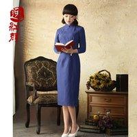 asian cheongsam - Hong Yi orchid roots cotton dress skirt spring and original Asian newly installed improved cheongsam dress fashion models