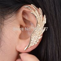 Wholesale New European Style Punk Gold Plated Wing Ear Cuff Earring Wrap Clip On for Left Ear for Women boucle bijoux