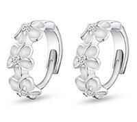 Silver women earrings lot - fashion earrings for women s stud Ear rings Jewelry sterling silver Hot camellia plum female earring