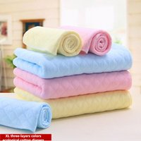 Wholesale pack XL Three layers CM CM CM Cotton Baby Napkin Color Ecological Cotton Nappies Reusable Unisex Baby Diapers
