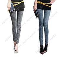 stretch jeans - New Women Fashion Jeggings Stretch Skinny Leggings Tights Pencil Pants Casual Snowflake Pattern Jeans