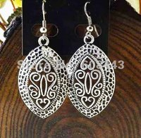 Wholesale ER208 Tibetan Gypsy French Royal Style Silver Plated fashion vintage drop dangle earrings Jewelry