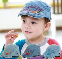 Wholesale Lovely Denim Baby Hat Baby Cap Baby Beret Kid Hat For Boy Girl boina infantil Size Can be Adjusted