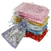 Wholesale 2015 New Arrivals Hot Selling Organza Jewelry Gift Pouch Bags with Mixed Color in a set FX44