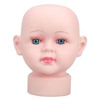 baby manikin - Lovely Girls Manikin Head For Hats Wig Mould Show Stand Baby Model Mannequin Headform ES88