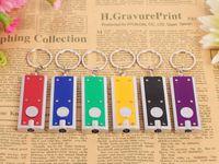 advertise gift box - Keychains Lights Tetris LED Keychain Light Box type Key Chain Light Key Ring LED advertising promotional creative gifts small flashlight