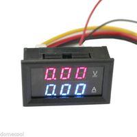 Wholesale 0 A DC Digital Voltmeter Ammeter Dual color Display Voltage Current Tester