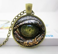 dragon - Handcrafted Pendant Necklace Reptile Eye Jewelry Glass Cabochon Game of thrones Dragon Eye Necklace