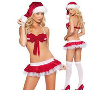Wholesale Xmas Gift Sexy Lingerie Christmas Costumes Holiday Sale Hot Erotic On Sale Hot Christmas Gift Velvet Fur Christmas Women