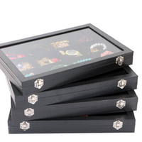 glass jewelry box - Large Top Grade Glass Lid Jewelry Box Necklaces Rings Earrings Bracelets Tray Storage Box Jewelry Holder