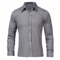Wholesale New Brand Spring Autumn Casual Long Sleeve Men Shirt High Quality Cotton Formal Business Plaid Mens Dress Shirts Plus Size