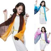hand painted silk scarf - 155 cm Fashion women silk scarf colors three layers hand painted long silk scarf towel Mulberry silk scarves wraps HW