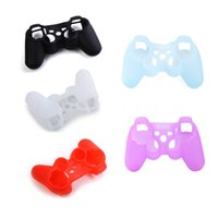 Wholesale Mixed Colors Cool Silicone Sleeve Protector Cover Case For Sony Playstation PS3 Game Controller Gamepad