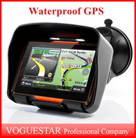 Wholesale GPS navigator waterproof GB quot Motorcycle Car GPS Navigation Navigator Touch Screen Waterproof Shockproof Sunproof NAV Bluetooth ATP020