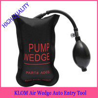 air free entries - Klom black Small size auto airbag air wedges auto entry wedge locksmith tools car door lock tools