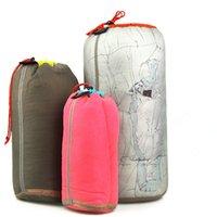 Wholesale Portable Ultralight Drawstring Nylon Mesh Stuff Sack Storage Bag Fishing Outdoor Sports Traveling Camping Hiking S M L XL XXL