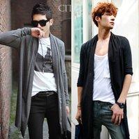 Wholesale 2015 Hot Mens Long Sleeve Cardigan Fashion Korea style Cardigan Clothing Fashion Sweaters