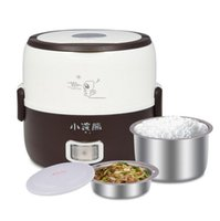 Wholesale 1 L mini electric lunch boxes stainless steel cylinder rice cooker double laye cooking electronic heating I