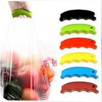 Wholesale 10PCS Colorful Bag Carrying Handle Tools Silicone Knob Relaxed Carry Shopping Handle Bag Clips Handler Kitchen Tools