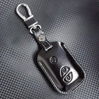 bag for keys lexus - FOB leather key case cover for Auto Lexus key case shell keyrings key holders wallet bags keychain accessories for Lexus cars