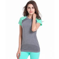 athletic v neck tee - Casual Women Short Sleeve Sports Quick Dry T shirt Fitness Running Athletic Tees