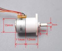 Wholesale New mm phase wire V Miniature stepper motor deceleration stepper motor Full metal gear box