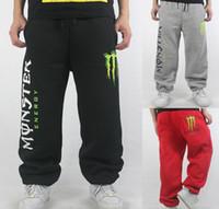 Wholesale Fashion MONSTER Man Pants Sports leisure HIPHOP Street Dance Leisure Loose SWEATPANTS Plus Size skateboard pants