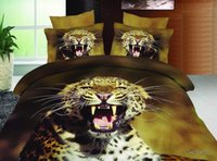 Cheap 3D Leopard print bedding comforter set bedspread duvet cover queen size sheet bed in a bag bedclothes quilt linen animal bedclothes