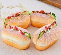 sandwich packaging - 20pcs cm squishy Fridge Magnets High simulation sandwich bread hot dog worms squishies Magnetic stickers Model gift