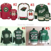 away design - Factory Outlet Own your design NO Name minnesota wild Jerseys or blank home away Sewn On Embroidery logos Only part of your Retail