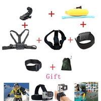 Wholesale 2015 New Multimeter Accessories Set Helmet Harness Chest Belt Head Mount Strap Go Pro Hero3 Hero4 Sj4000 Black Edition