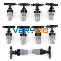 Wholesale New zero flow to misting Adjustable Water Spray Nozzle Sprinklers Misting Cooling order lt no track