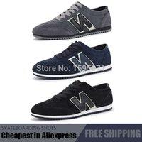 Wholesale Top sneakers canvas N word shoes balance shoes Men s canvas Skateboard Shoes Size Black Blue Gray