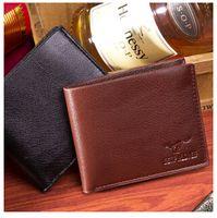 Wholesale Men s folding bag leisurely leather wallet hand bag