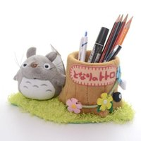 Wholesale Official My Neighbor Totoro Tree Pencil Pen Holder Plush Stationery New LNF