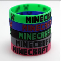jelly bracelets - 2015 New Creative Minecraft Creeper wristbands Silicone Bracelet Cartoon wristbands bracelet Minecraft accessories Without tag