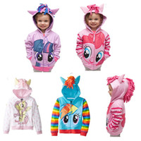 Wholesale 2015 new outerwear My little pony Sweater hoodies sportswear boys girls Cartoon Hooded coat clothes hoody jacket styles