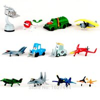 big red bus - 12pcs Airplane Planes Dusty Cars Pixar Mini Car Toy Plane Aircraft Model Air Plane Baby Kids Cheap Toys For Boys Gift