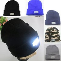 angled light fitting - 50 a Hot led knitted beanie hat for men colors womens winter warm lights LED glowing knitting caps Angling Hunting