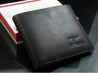 Wholesale fashion Mens Wallet Men Purse Men rfid card leather wallet Genuine leather W B14