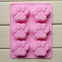 Wholesale Silicone mold lattices cat footprint handmade soap mold silicone cake molds SSCM