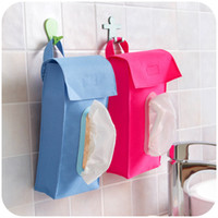 Cheap Wholesale-New style Oxford Hanging Tissue Box Cover Napkin Organizer Bags Car Toilet Kitchen Bathroom Bedroom Paper Storage Holder