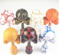 Wholesale kendama wooden toys Oversized cm kendama Full Crack skills ball Beech Sword ball